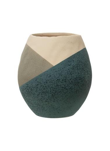 Warm Design Porselen Saksı Renkli